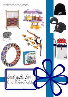 must-have gifts for kids and families for kids ages 8 - 11 years old | cool educational gifts that get kids moving and keep them screen-free | gift guide for late elementary schoolers | what would YOU add to the list?