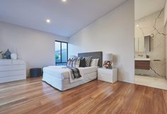 Premium timber flooring available also in Blackbutt Spotted gum and Roasted Peat. Spotted Gum Flooring, Engineered Timber Flooring, Luxury Flooring, Types Of Flooring, Bedroom Flooring, Sustainable Design, Bean Bag Chair, Hardwood Floors, House Design
