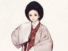 이번 편부터는 16~20세기까지의 여성 한복 일러스트를 차례로 업데이트하고, 이후에 계속해서 여성 한복의 웃옷을 다룰 예쩡입니다. 이번 편은 16세기의 통수형 저고리와 전단후장형 치마의 일러스트입니다. ^^