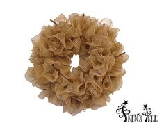 """burlap-ruffle-wreath-basic How lovely and begging to be """"dressed""""!"""