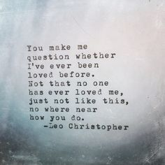 You Do • Leo Christopher • My book -> LeoChristopherPoetry.com