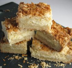 coconut cream cheese bars via vanilla kitchen