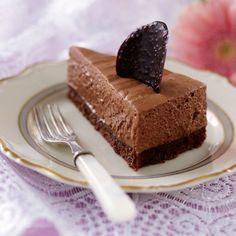 Tjusig och mycket god chokladmoussetårtan som dessutom både är glutenfri och kan frysas!