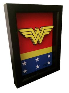 Hey, I found this really awesome Etsy listing at https://www.etsy.com/listing/210257674/wonder-woman-logo-artwork-3d-pop-art