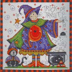 Counted Cross Stitch Kit Trick or Treat From Design Works