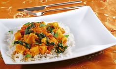 Süßkartoffel-Curry mit Linsen und Spinat Rezept | tegut...