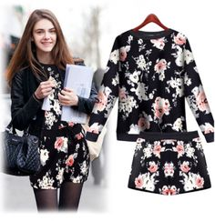2014 autumn new women's fashion west style stretchable floral pants suit $22.40 from enjoyours.com