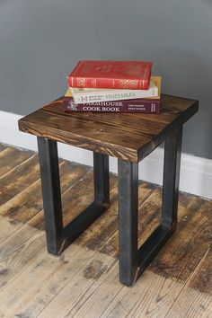 Your place to buy and sell all things handmade Rustic Industrial Furniture, Reclaimed Wood Furniture, Hairpin Legs, Urban Design, Stool, Mid Century, Buy And Sell, Box, Table