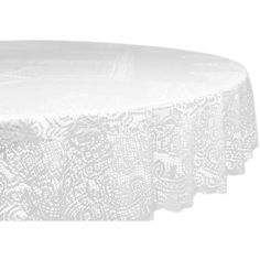 Lace Victorian 63-inch Polyester Round Tablecloth ($20) ❤ liked on Polyvore featuring home, kitchen & dining, table linens, furniture, white, easter table linens, easter tablecloth, floral tablecloth, lace tablecloths and outdoor table cloth