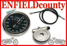 REPLICA SMITH SPEEDO 0-120 Mph + HUB + 54  CABLE BSA ENFIELD