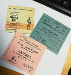 Trio of 1960s ticket stubs.