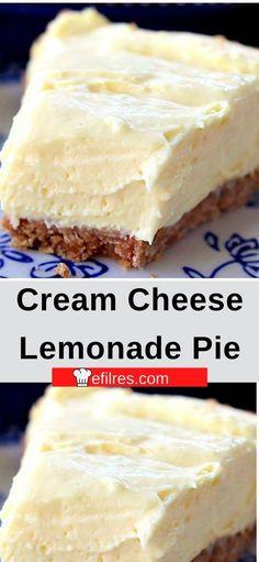 Summer Desserts, No Bake Desserts, Easy Desserts, Delicious Desserts, Yummy Food, Tasty, Pie Recipes, Dessert Recipes, Recipes