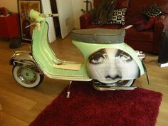 Vespa Wrapping - WANT!!! #vespa ☮k☮ #scooter #green