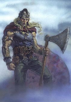 Vidar - Norse god of the forest, of revenge and of silence. He is the son of Odin and Grid, a Jotun also known as Frost Giants.