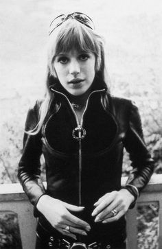 Marianne Faithfull in The girl on a motorcycle by Jack Cardiff, 1968