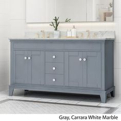 Purchase Feldspar Contemporary Wood Double Sink Bathroom Vanity with Marble Counter Top with Carrara White Marble from GDFStudio on OpenSky. Best Bathroom Vanities, Double Sink Bathroom, Bathroom Sink Vanity, Wood Bathroom, Bathroom Furniture, Bathroom Ideas, Master Bathroom, Washroom, Bathroom Interior