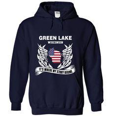 Green Lake It's Where My Story Begins T-Shirts, Hoodies. CHECK PRICE ==► https://www.sunfrog.com/States/Green-Lake--Its-where-my-story-begins-1724-NavyBlue-Hoodie.html?id=41382
