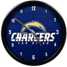 San Diego Chargers Black Rim Basic Clock - $15.99