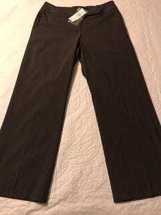 2da3d094c66ad Ann Taylor Petites Gramercy Fit Brown Slit Leg Crop Pants Size 0P NWT   AnnTaylor