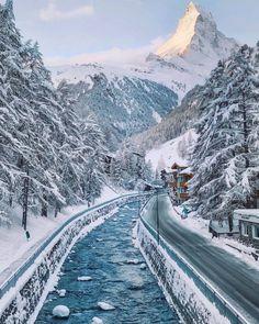 Frozen Zermatt, Switzerland. Photo by: @doriadamik