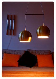 Lámparas danesas doradas. Retro lamps.