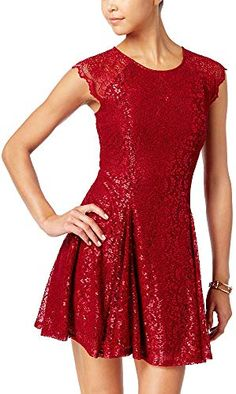 a158e86f6 New City Studios Juniors' Lace Fit Flare Dress Fashion Girls Clothing.  [$31.94]
