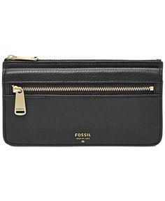 $65 Fossil Preston Leather Flap Clutch Wallet - Wallets & Wristlets - Handbags & Accessories - Macy's