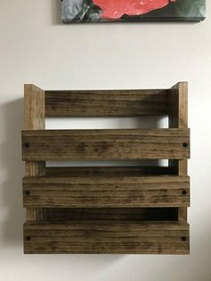 This Restaurant Bar Brewery Wall Mounted Wood menu Holder storage is just one of the custom, handmade pieces you'll find in our baskets shops.