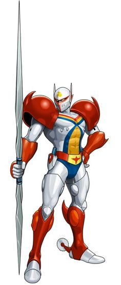 View an image titled 'Tekkaman Art' in our Tatsunoko vs. Capcom: Ultimate All-Stars art gallery featuring official character designs, concept art, and promo pictures. Manga Anime, Old Anime, Game Character Design, Character Art, Combattler V, Space Knight, Battle Of The Planets, Robot Cartoon, Alternative Comics