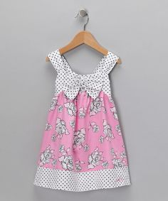 Take a look at this Pink Rose & Polka Dot Swing Dress - Infant & Toddler  by Lilybird on #zulily today!