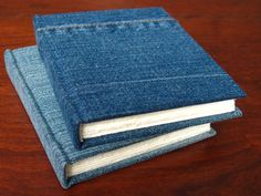 Denim book covers