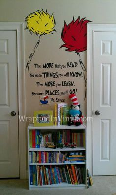 Dr Seuss The more you read Quote kids room by WrappedInVinyl, $24.99