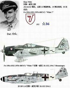 Hans Weik - FW 190 A8 White 7 JG 3