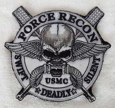 "U.S. UCMC COMMANDO USMC FORCE RECON ""SWIFT"" DEADLY ""SILENT"" patch"