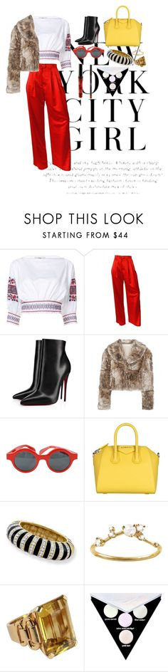 """""""Untitled #168"""" by xoutfiter ❤ liked on Polyvore featuring H&M, TIBI, ESCADA, Christian Louboutin, STELLA McCARTNEY, Louis Vuitton, Givenchy, Kenneth Jay Lane, WWAKE and Kat Von D"""