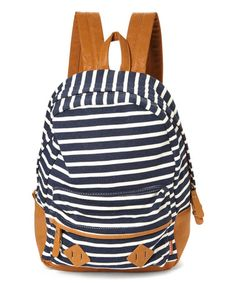 Navy Stripe Backpack nautical & summer perfect