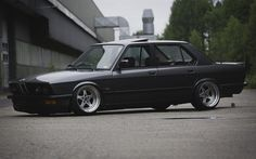 BMW 5-series, E28, tuning, sedans, gray bmw