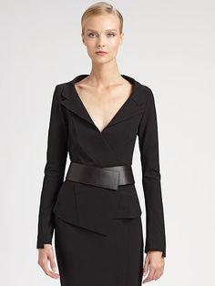 Donna Karan - Belted Envelope Jacket