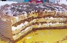 Ovo je jedna moja verzija kapućino torte, nije mnogo skupa, a dosta je velika, uz još neku tortu po vašem izboru sasvim je dovoljna za neko slavlje. Kalup je prečnika 23 cm. Ovu sam tortu nosila na jedan rodjendan i smazana je za čas. Mogu da je jedu i deca, kafa se ne oseti previše, a ima nek… Cookbook Recipes, Cake Recipes, Dessert Recipes, Cooking Recipes, Dessert Ideas, Torte Recepti, Kolaci I Torte, Delicious Desserts, Yummy Food