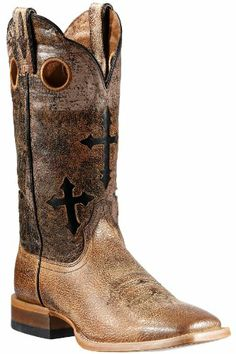 Ariat Men's Ranchero Cross Inlay Cowboy Boot Square Toe Sand 10.5 D(M) US, Ariat Boots ATS technology supports and cushions as you move, promoting good posture and reducing fatiguefort technology is what we love about men's Ariat boots At the core of ATS technology is the Ar..., #Apparel, #Boots