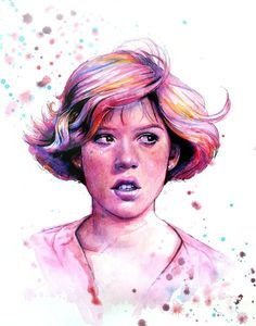 The Princess - Breakfast Club Art Print Indie Art, Watercolor Portraits, Watercolor And Ink, Red Scene Hair, Indie Scene, Scene Girls, The Breakfast Club, Fantasy Makeup, Breakfast Club
