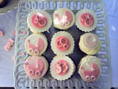 it's a girl baby shower cupcake toppers