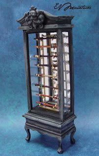 EV Miniatures: wizard wand cabinet