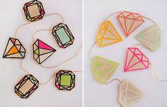 Várias maneiras de fazer um diamante