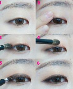 Single eyelid makeup