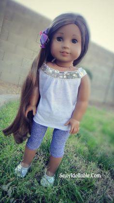 Free Sewing Pattern leggins for 18 Inch Dolls