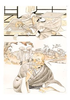 igort: Hokusai's testament, from Japanese notebooks. Drawn in Capitana december Japanese Notebook, December 2014, Notebooks, Novels, Cinema, Draw, Comics, Movies, Cinematography