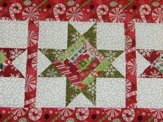christmas quilting | heart quilting: Christmas Table Runner