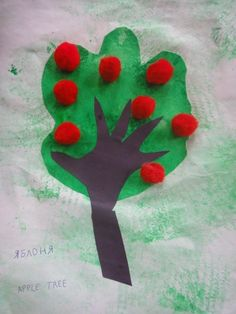 Apple Tree Handprint Craft