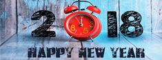 Clock New Year 2018 Facebook Cover Pic